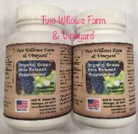 Organic Grape Skin Extract in 60 & 90 Capsule Bottles