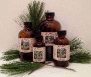 White Pine Needle Extract Tincture in 2 oz, 4 oz, 8 oz, and 16 oz Amber Glass Bottles.